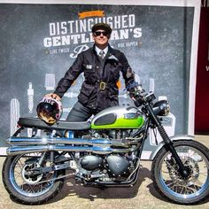 Portrait at the Sydney Distinguished Gentleman's Ride 2013 - Me and my Scrambler