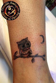 Buho Mini Tatuaje Owl Tattoo Mini