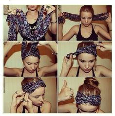 How to wear a scarf as a bandana