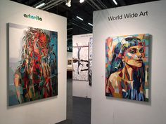 My paintings at Art-Expo 2016 New-York
