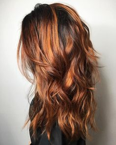 60 Most Universal Modern Shag Haircut Solutions Long Layered Hairstyle with Copper Balayage Modern Shag Haircut, Long Shag Haircut, Copper Balayage, Haircuts For Long Hair With Layers, Long Layered Hair, Medium Hair Styles, Curly Hair Styles, Natural Hair Styles, Long Shag Hairstyles