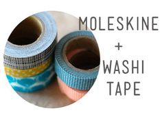 how to multi-task your moleskine journal and keep it organized (and pretty) with washi tape.