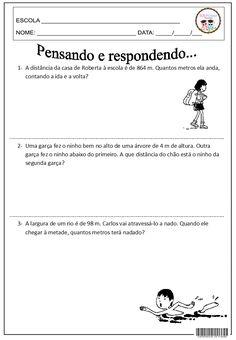SOS PROFESSOR-ATIVIDADES: Pensando e respondendo... Matemática, Situações-problema, Medidas de comprimento