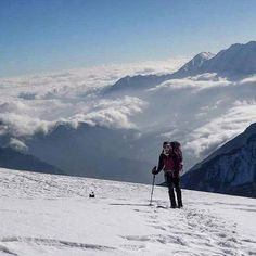 #ClearSkyTreks :Photo of the Day The Dhampus pass in Nepal just over 5000 meters is the last obstacle on the Dhaulagiri circuit trek.  #travel_trekking_hiking #himalaya_macpac_chooseyouradventure #nepal8thwonder #ClearSkyTreks #Nepal_Travel 📷: @Clear_Sky_Treks..
