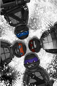 Black and White LEGO® Teenage Mutant Ninja Turtle by Brickreate on Etsy $8