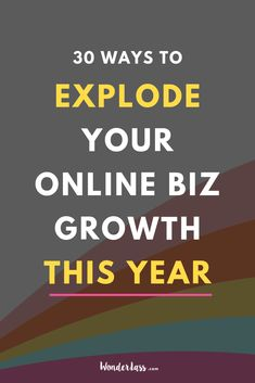 Looking to explode your online biz growth but not sure where to start? Click through to read 30 TRIED AND TRUE tips that will take your biz off the struggle bus and on the fast track train to success! #onlinebusinesstips #entrepreneurtips #businessgrowth