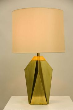 Anonymous; Brass Table Lamp, 1960s.
