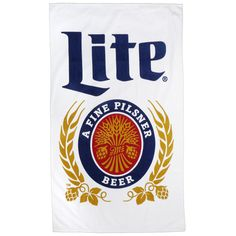 This vibrant Miller Lite white towel features the classically iconic Miller Lite crest and, just like your favorite beer, deserves to be poolside. Machine washable.