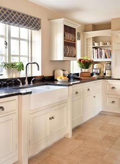 traditional blue and white kitchen sink