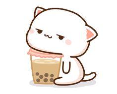 Firza naz😍😜 Cute Bear Drawings, Cute Animal Drawings Kawaii, Cute Cartoon Drawings, Cute Kawaii Animals, Kawaii Drawings, Kawaii Cute, Cute Love Pictures, Cute Love Gif, Cute Images