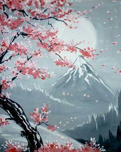Cherry blossom mountain
