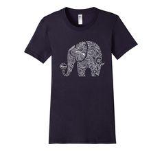 Amazon.com: White Elephant Mandala - Yoga T-Shirt: Clothing