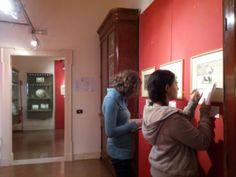 Studenti del Liceo Artistico MiBe al lavoro durante la #mostra #Goya #Pescara #didattica #MuseumSchool