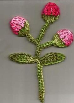 Rose Bud Crochet Pattern. More Patterns Like This!