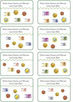 klammerkarten geld hallo kinder wir lernen deutsch rechnen mit geld mathe und nachhilfe mathe. Black Bedroom Furniture Sets. Home Design Ideas