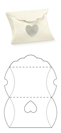 Pillow box - - Pillow box – The Effective Pictures We Offer You About diy anniversary scrapbook A quality picture can tell you many things. Diy Gift Box, Diy Box, Diy Gifts, Gift Boxes, Paper Box Template, Pillow Box Template, Box Templates, Origami Templates, Diy And Crafts