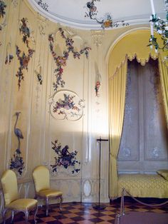 Voltare's bedroom at Sans Souci  http://www.artsjournal.com/palace/2012/03/sans-souci-notes-before-a-concert.html