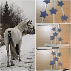 DIY reflective fabric stars tail decoration for horses