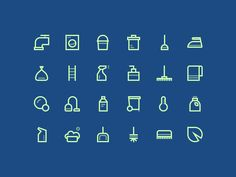A little Cleaning Icons set :)  Check out x2 for the real stuff.  Follow me on Twitter and on Instagram