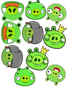 Angry birds printable decorations.