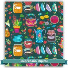 Tecido Estampado para Patchwork - 25455 Cookie 01 (0,50x1,40) 100% Algodão   Fabricante:  Estilotex