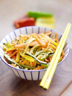 Wok de légumes - Recette de cuisine Marmiton : une recette