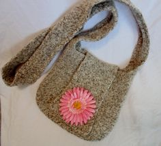 Felted Pink Flower Purse by NicolesHopeChest on Etsy