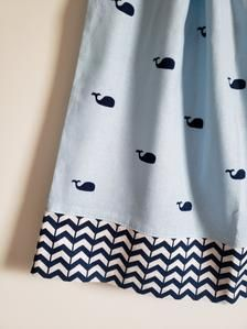 Pillowcase Dress Whale Dress Girls Dress with Whales | Etsy Baby Blue Dresses, Little Girl Dresses, Baby Dress, Girls Dresses, Nautical Outfits, Nautical Dress, Girl Dress Patterns, Skirt Patterns, Blouse Patterns
