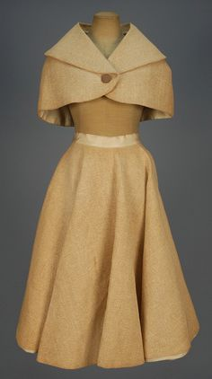 LOT 758 NOVELTY CAPELET and CIRCLE SKIRT, 1957. this is so cute i love it