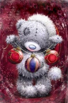 Новогодние картинки с мишками Тедди