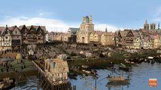 Reconstitution: En 1550, la Place de Grève, qui est aujourd'hui la Place de l'Hôtel de ville, était un port commercial important. Mais aussi le lieu de fêtes... et d'exécutions.