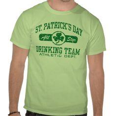 #StPatricksDay -St. Patrick's Day Drinking Team T Shirts by  #magarmor