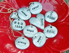 Faux metal stamped pendants. Made with clay! Great tutorial from @Rebekah {All Thingz Related}