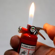 Small LED Flashlight Butane Cigar Lighter Fire Extinguisher Firefighter Fireman Gift Idea -- Continue to the product at the image link. (This is an affiliate link and I receive a commission for the sales) Eagles Man Cave Ideas, Desserts Valentinstag, Cigar Lighters, Firefighter Gifts, Camping Lights, Diy Garage, Garage Design, Party Cups, Fire Extinguisher