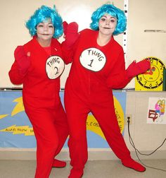 thing 1 click to here to vote for thing 1 and thing 2 - Thing 1 Thing 2 Halloween Costume
