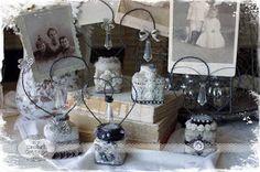 Vintage Inkwell Bottles for Vendor Night at Downton