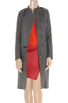 Wool-blend trench coat by Reed Krakoff