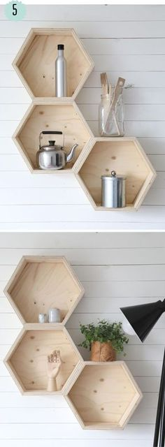 3 Best Clever Tips: Floating Shelves Decoration Mirror floating shelf with hooks wood shelves.Floating Shelves Design Bedrooms floating shelf with hooks hangers. Floating Shelves Bedroom, Floating Shelves Kitchen, Kitchen Shelves, Kitchen Storage, Kitchen Cabinets, Wood Projects, Woodworking Projects, Woodworking Skills, Diy Home Decor