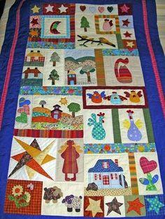 Colchas de patchwork: Fotos de modelos para imitar - Colcha de patchwork para niños