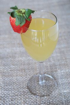 Mock champagne punch - ginger ale plus pineapple juice plus white grape juice