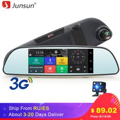 Junsun E515 Car DVRs 6.5 Android 5.0 mirror DVR 3G Car DVR Bluetooth rearview mirror with DVR and camera video recorder Dash Cam
