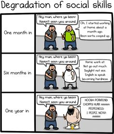 Why working at home is both awesome and horrible - The Oatmeal