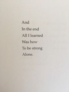 Image de alone, quote, and strong