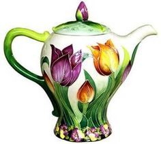 Tulip Teapot Icing on The Cake Jeanette McCall Blue Sky   eBay