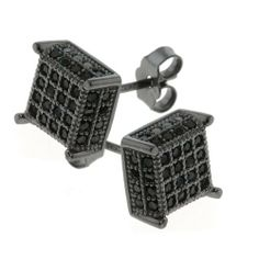 2.00 Ct Men's Sterling Silver Earrings Black Cubic Zirconia CZ 7mm Gem Stone King. $39.99. 7MM. 2.00 grams. Cubic Zirconia (CZ). Save 79%!