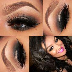 Smokey dark eye makeup