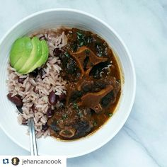 #Repost @jehancancook with @repostapp #dineineatoutcertified #dineineatoutcommunity #dineinatout Doing more meal prep for these guys. I had to have a bit of the Oxtail and Rice and Peas for lunch . Let me tell u about these oxtails....it must be from the oldest cow ever!!!! I cooked it in my pressure cooker for 50 minutes!!!! And still had to cook it for an additional half hour for it to become tender.  I usually only pressure it for 15 mins followed by a 30 min simmer and that does the…