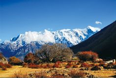 Spectacular view of Mount Namcha Barwa in southeastern Tibet in autumn.