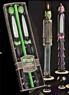 "Looking to add a spooky ambiance to your decor? Not just for Halloween! Set 4 Monster Taper Candles include Frankenstein & Dracula Set Figural 12"" New Halloween Party #Dracula"