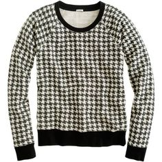 Houndstooth Sweatshirt ($65) ❤ liked on Polyvore featuring tops, hoodies, sweatshirts, sweaters, shirts, sweatshirt, print sweatshirt, lightweight sweatshirts, dot print shirt and patterned sweatshirt